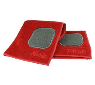 MU Kitchen Crimson Red 12 x 12 Microfiber Dish Cloth with Scrubber