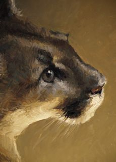Richard Murray Oil Painting Cougar Mountain Lion Western Art Wildlife