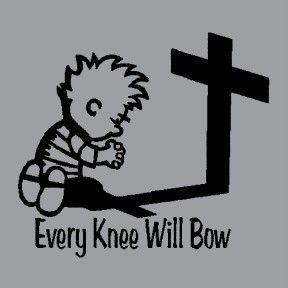 Christian Religious T Shirt Apparel Every Knee Shall Bo