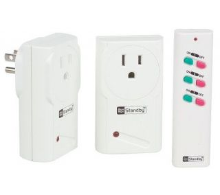 Bye Bye Standby Energy Saving Electrical Outlet Kit with Remote