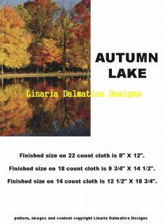 Autumn Lake Counted Cross Stitch Pattern