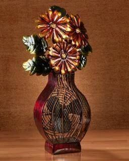 New 6 Deco Breeze Flower Vase Figurine Table Top Fan