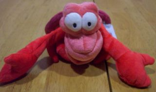Mermaid Soft Sebastian Crab 6 Plush Stuffed Animal Toy New
