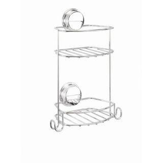 Croydex Twist N Lock Chrome Compact 2 Tier Storage Basket QM370541YW