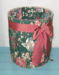 fabric covered wastebasket from the granada pattern line by croscill