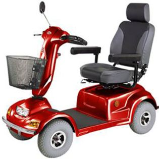 CTM HS 890 4 Wheel Heavy Duty Electric Mobility Scooter Red