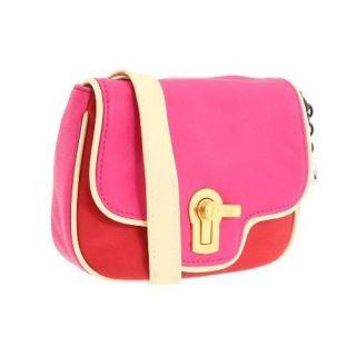 NWT 158 Auth Juicy Couture Color Block Gem Lock Cross Body Handbag Bag