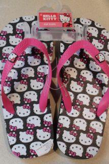 Childrens Hello Kitty Flip Flops Sandals 2 3 Choice