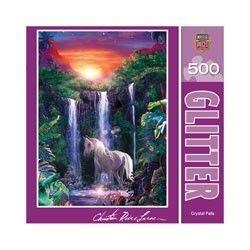 Glitter Jigsaw Puzzle Crystal Falls Christian Riese Lassen
