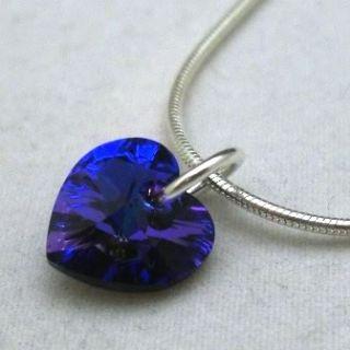 Swarovksi Crystal pendant charm, Swarovksi Crystal heart pendant charm