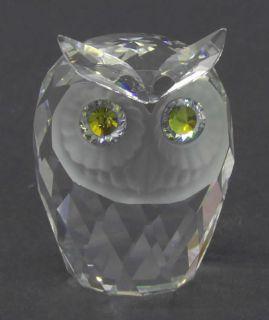 manufacturer swarovski crystal pattern figurine piece large owl size 2
