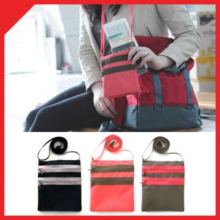 Travel Messenger Bag Phone Wallet Cover Pouch ID Cross Body