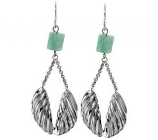 RLM Studio Sterling & Aventurine Angel Wing Earrings —