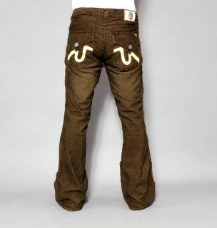 Mens Laguna Beach Jeans Laguna Brown Corduroy Bootcut 36
