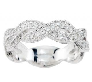 Tacori IV Diamonique Epiphany Twisted Band Ring —