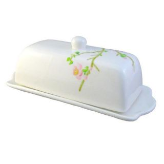 Corelle Cherry Blossom 2 PC Covered Butter Dish New