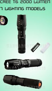CREE XM L T6 Zoomable 2000 Lumen LED 26650 Flashlight Torch 2013