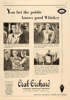 ad crab orchard kentucky whiskey bourbon alcohol original advertising