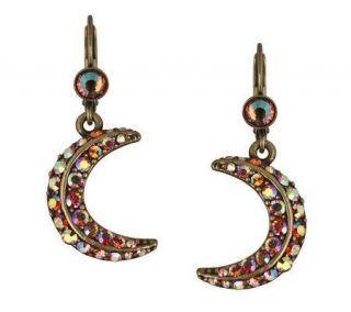 Kirks Folly Crescent Moon Shadow Lever Back Earring —