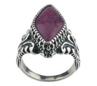 Carolyn Pollack Sterling Diamond Shaped Gemstone Ring   J40686
