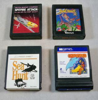 Game Cartridges Sea Hunt Entombed Spitfire Attack Cosmic Creeps