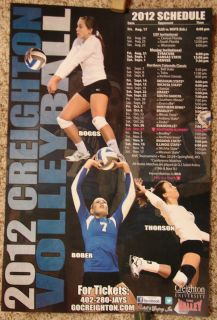 CREIGHTON BLUE JAYS 2012 Volleyball Schedule Poster Pocket Schedules