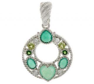 Judith Ripka Sterling Multi Gemstone Drop Enhancer   J275582