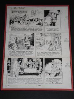 JOHN CULLEN MURPHY PRINCE VALIANT ORIGINAL ART SUNDAY PAGE SIGNED