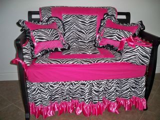 Pink and Zebra CRIB SET Baby Girl Bedding from Le Baby Originals