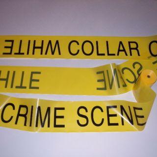 100 White Collar Crime Scene Funny Yellow Caution Barricade Tape