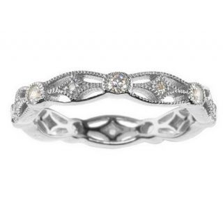 Tacori IV Diamonique Epiphany or 18K Clad Stack Ring —