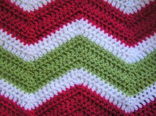 Chevron Handmade Crochet Baby Blanket Afghan Shawl Wrap Ripple