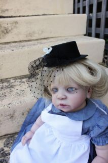 Reborn Toddler Baby Girl OOAK Alice in Wonderland not Horror Gothic