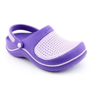 Crocs Crosmesh Youth Kids Girls Size 3 Purple Synthetic Clogs Shoes