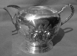 Stieff Rose Creamer Sugar Bowl Sterling