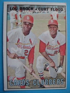 Lou Brock Curt Flood 1967 Topps Baseball 63