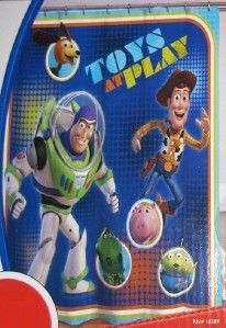 DISNEY PIXAR TOY STORY SHOWER CURTAIN Fabric Buzz Lightyear Woody Kids