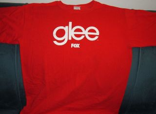 TV SERIES RARE OFFICIAL PROMO T SHIRT LARGE LEA MICHELLE CORY MONTEITH