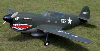 Giant Scale Curtiss P 40 Warhawk Plans and Templates