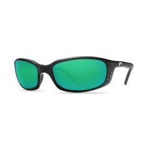 New Costa Del Mar Brine Black Frame with Green Mirror Glass 580 BR 11