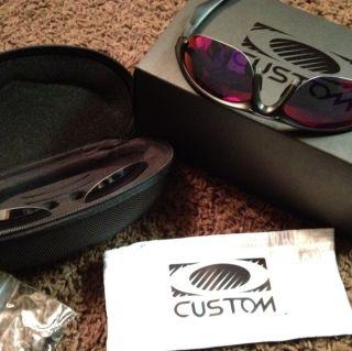 Custom Oakley Half Jacket SML Sunglasses Extra Lenses Hard Soft Cases
