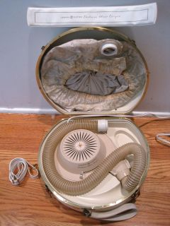 Vintage General Electric Bonnet Deluxe Hair Dryer Carrying Case W