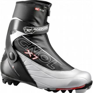 Rossignol x7 Skate Cross Country Ski Boots Black Silver