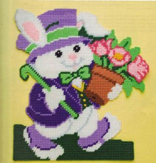 Easter Bunny Cross Wall HNG Plastic Canvas Pattern Book