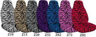 Cute Zebra Car Seat Covers Fit 2002 Holden Barina XC