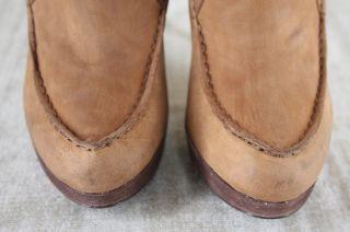 Michael Kors Creston Leather Platform Ankle Short Boot Size 8 $395