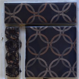 Black Silver Gold Window Curtain Fabric Shower Curtain Rings
