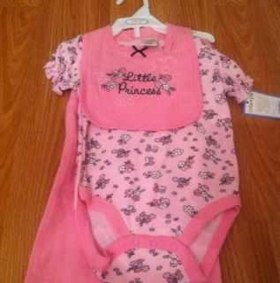 NWT Cutie Pie Little Princess Baby Pink girl 3 Piece Set 9 12 Months