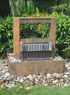 Indoor Outdoor Fountain Beautiful Slate Stone Great for Gardens Moaula