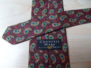 New Men Countess Mara Paisley Silk Tie 57 Red Navy Gold Green Gray